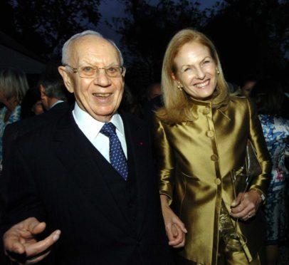 Dr Mortimer Sackler and wife Theresa