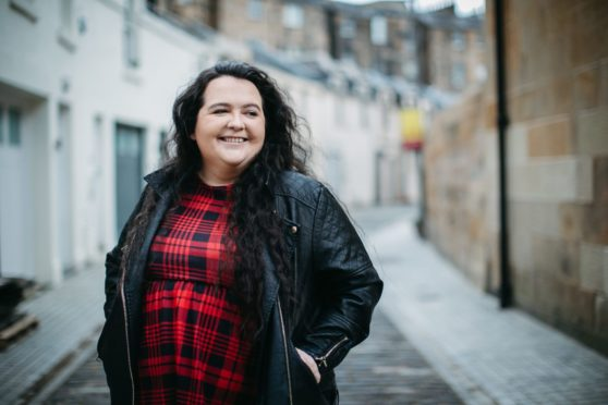 Comedian Ashley Storrie, who makes her TV acting debut in Dinosaur, in her home city of Glasgow last week