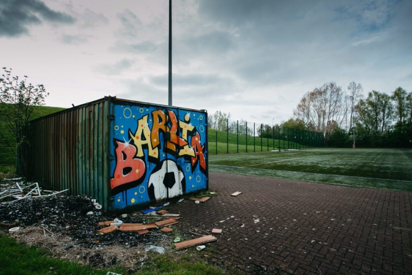 Shuttered: The popular Barlia Football Centre in Glasgow has been shut as part of council closures