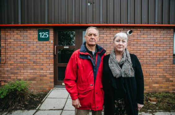 Bill and Jackie Lavender outside their industrial unit