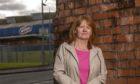 Christine Quinn outside the McVitie's plant in Glasgow last week