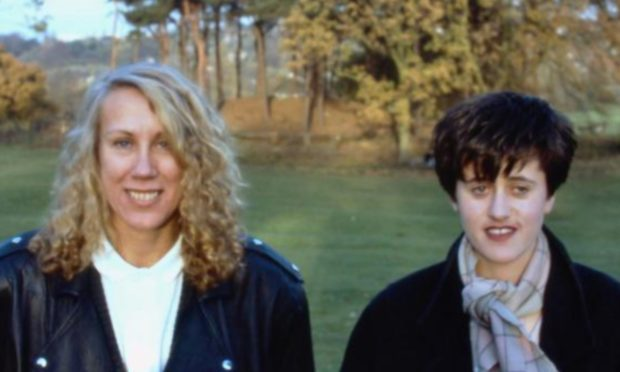 Lindy Morrison and Tracey Thorn in 1987