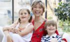 Kate Silverton with daughter Clemency and son Wilbur, six