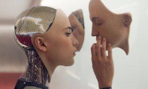 Alicia Vikander as a humanoid robot in 2014 movie Ex Machina