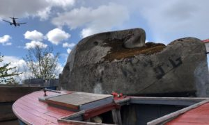 Floating Head in a Clydebank boatyard
