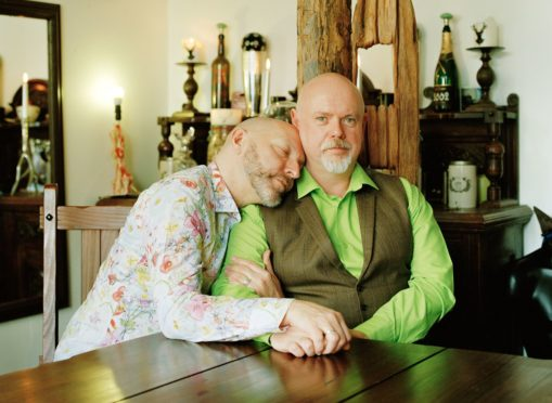 The Coming Back Out Ball will honour and celebrate Scotland's older LGBTI+ community. Participants, Stuart and Colin.