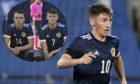 David Turnbull and Nathan Patterson, inset, step up from the U-21s along with Billy Gilmour