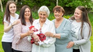 Edinburgh pensioner overjoyed as she becomes Scotland's only great-great-great grandmother