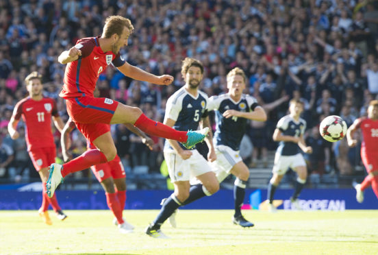 Harry Kane will be a threat to Scotland, just as he was in scoring a late equaliser at Hampden four years ago
