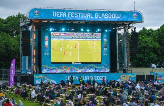 The Euros fan zone in Glasgow