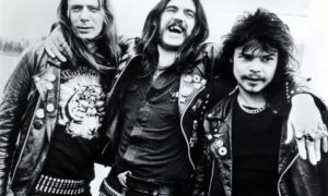 Motorhead's Eddie Clarke, Lemmy and Phil Taylor in 1980
