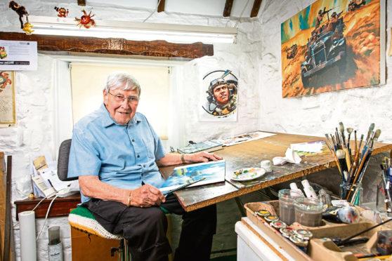 Ian Kennedy in his studio.