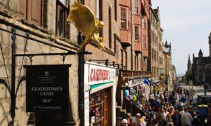 Gladstone's Land on Edinburgh's famous Royal Mile
