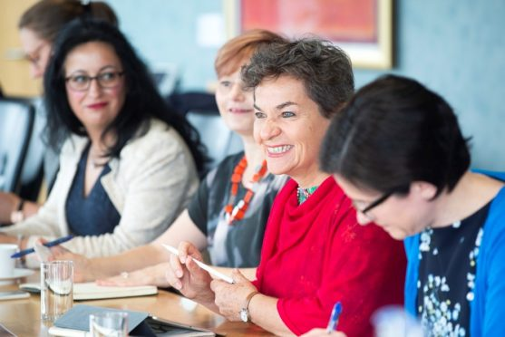 Edinburgh Science hosts a roundtable discussion with Christiana Figueres and industry leaders in 2019.