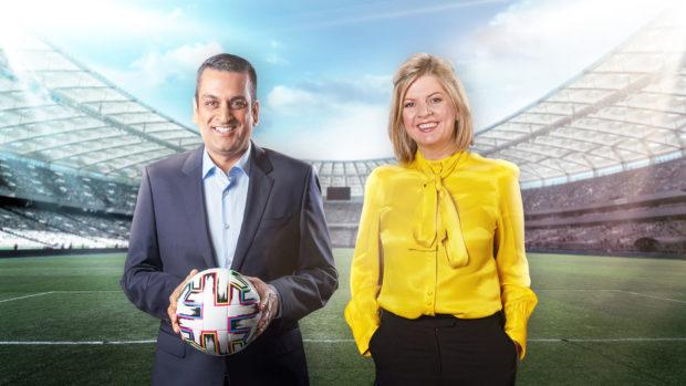 STV Sport presenters Raman Bhardwaj and Sheelagh McLaren
