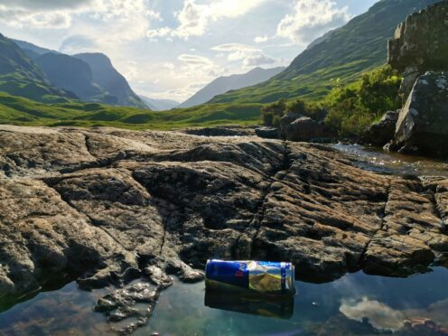 A discarded can at Glencoe