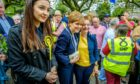 Nicola Sturgeon joins Mairi McAllan on the campaign trail in Moffat in May 2017