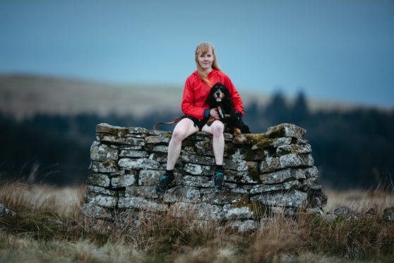Mandy with dog, Max.