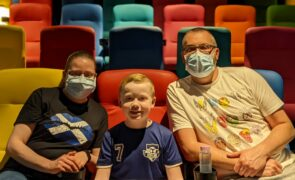 Young patients at Glasgow's Royal Hospital for Children swap beds for cinema seats