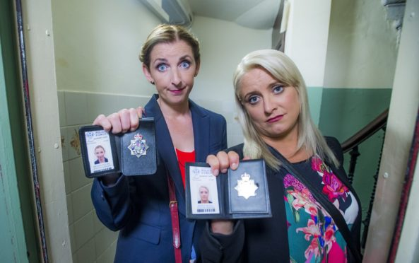 Julie Wilson Nimmo and Louise McCarthy in Scot Squad