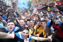In pictures: Scotland supporters urged to be cautious as Tartan Army takes over London