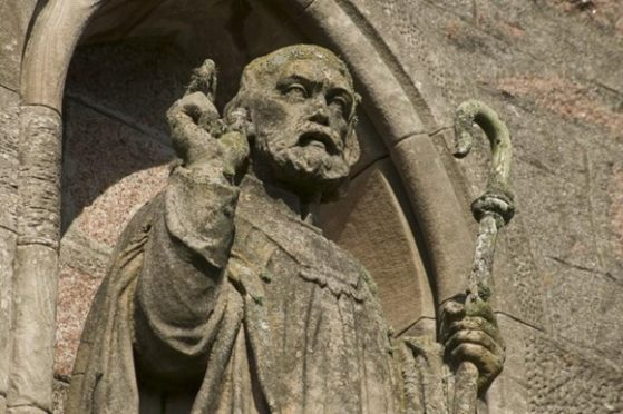 St Columbas is believed to have brought Christianity to Scotland.