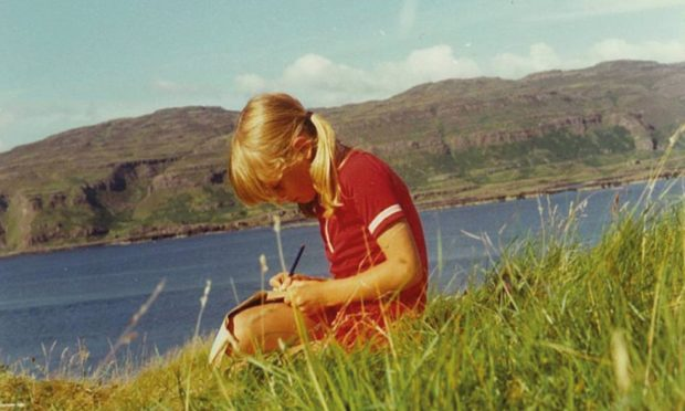 Cressida Cowell, aged nine on holiday in the Hebrides and already inspired to write her best-selling tales of dragons and wizards
