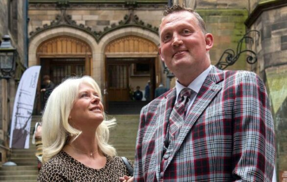 Doddie Weir and his wife Kath in 2019
