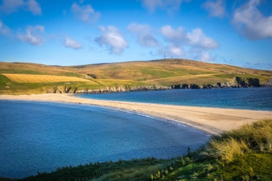St Ninian's Beach on Shetland.