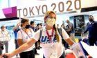 US Athletes arrive at Narita Airport for the Tokyo 2020 Games