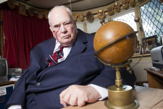 Sir Patrick Moore, the late host of The Sky At Night