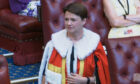 Baroness Davidson of Lundin Links wore the traditional scarlet robes for the short introduction ceremony