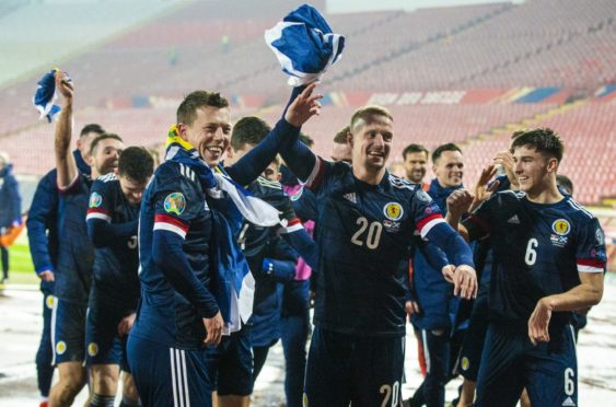 Leigh Griffiths was at the heart of the Scotland celebrations in Belgrade last November after qualifying for the Euro Finals. But he was left out of the squad and now faces an uphill battle at Celtic