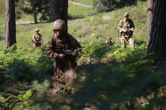 Women Army recruits train at Sandhurst in 2013