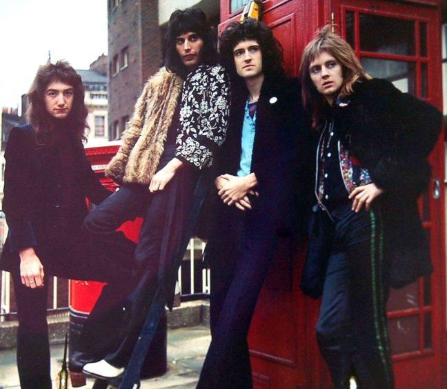Freddie Mercury, second left, with Queen in 1970