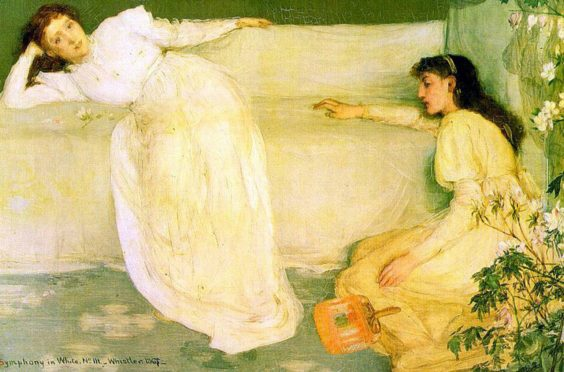 Symphony in White No 3, painted by James Whistler in 1866