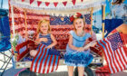 Youngsters in Ojai, California celebrate on July 4, 2016
