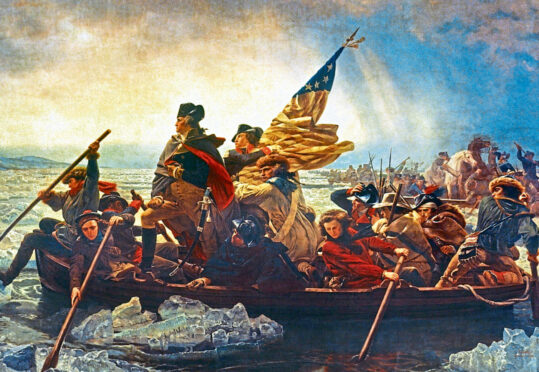 President George Washington is blamed for muckle mistake.