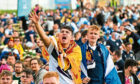 Fans flock to Glasgow Fan Zone for the Euro2020 match between England and Scotland at Wembley