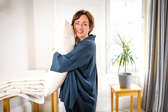 Joan Johnston of Ava Innes/Bespoke Fabrics.  Joan, from Moray, is the founder of Ava Innes, which provides a range of UK-made luxury natural products encouraging a better night's sleep.