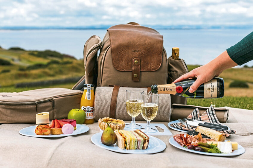 Picnic with champagne at Fairmont St Andrews