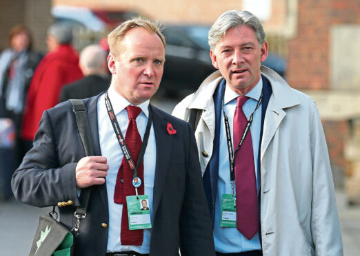GMB union officials Gary Smith (left) and Richard Leonard (right).