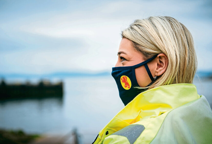 Rachael Murdoch, port manager at Largs, says staff are trialling the wearing of body cameras after cases of abuse increased.
