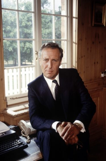 Frederick Forsyth, now 82, in 1990