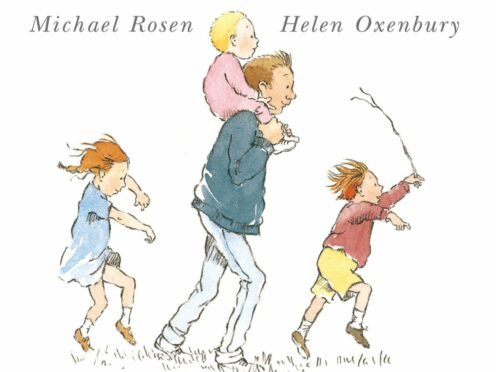 Helen Oxenbury's cover illustration for We're Going On A Bear Hunt, written by Michael Rosen