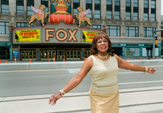 Martha Reeves outside the Fox Theatre in Detroit