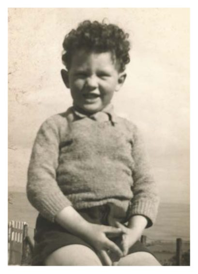 A young John R Hume at Whiting Bay, Isle of Arran, 1944
