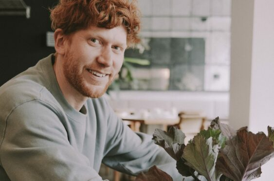 Barrie Henderson, who is set to open a new Hendersons restaurant - and his homegrown vegetables will be on the menu