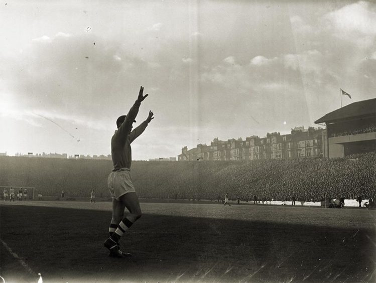 Old Firm game in 1957.
