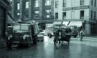 Horse lorry, Fruitmarket, Glasgow, 1965